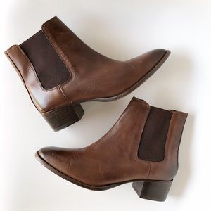 FRYE | Brown Dara Leather Chelsea Ankle Boot